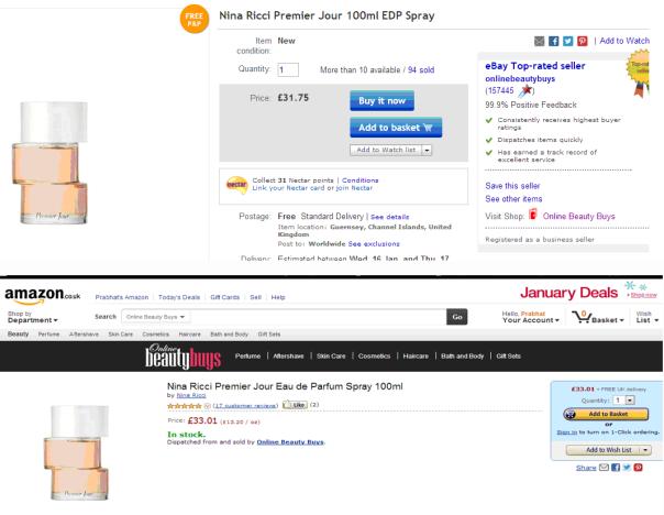 amazon ebay price comparison