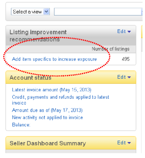 Add item specifics to increase exposure on eBay