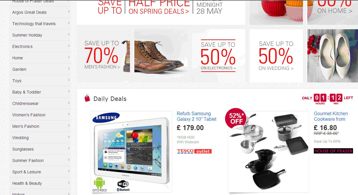 Bank holiday shopping deals uk