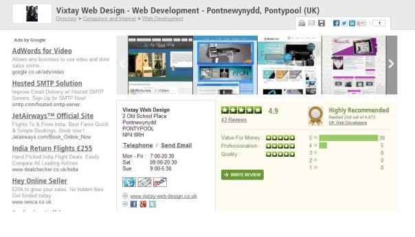 Vixtay web design