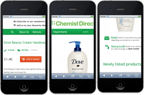 Chemist Direct eBay Listing Not Responsive to Mobile