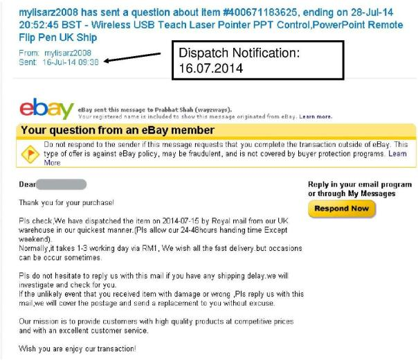 eBay Seller Customer Support 3