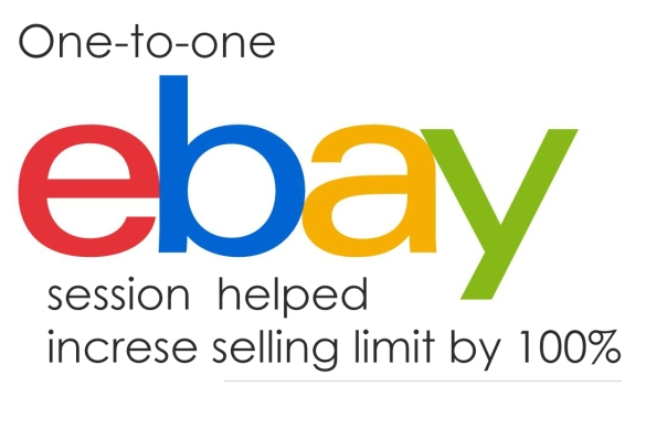 one to one ebay session helped increase ebay selling limit by 100%