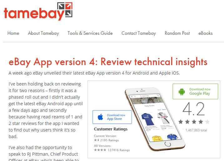 Tamebay's eBay App Review: Responsive Description | eBay Expert UK
