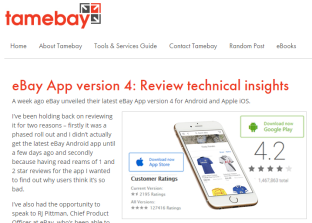 eBay App version 4 Review technical insights