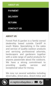 Forest Park Garden Mobile Responsive design by DaytodayeBay